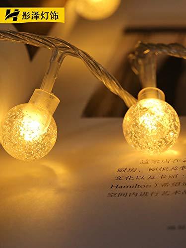 Les Lantern Menées Lichtketting, waterdicht, led-snoer Fee, voor buiten, knipperlicht, warmwit, 5 meter 50 licht