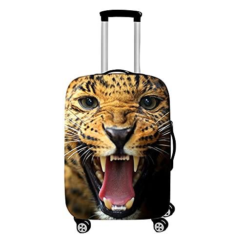 Surwin 3D Cubierta de Equipaje Protectora Suave Elástico Anti-Polvo Lavable Funda de Maleta Luggage Cover con Cremallera Viaje Cubierta de la Caja (Leopardo Manchado,XL (30-32 Pulgadas))