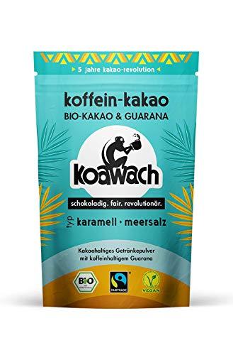 koawach Typ Karamell + Meersalz Kakaopulver mit Koffein aus Guarana Koffein Kakao - Bio, vegan und Fair Trade 500g