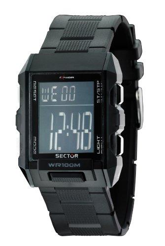Sector R3251272025 - Reloj Digital de Cuarzo Unisex, Correa de plástico Color Negro (luz, Alarma, Registro de Vueltas)