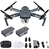 DJI Mavic Pro 4K Quadcopter with Remote Controller, 2 Batter...