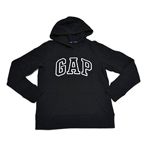 GAP moletom feminino com capuz e logotipo em fleece, Preto, XX-Large