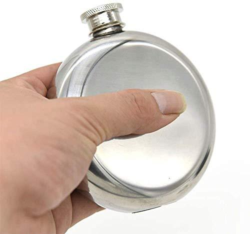Erosch Premium 5 Oz Rundkolben und Trichter Set, Lebensmittel-Grad-Edelstahl Alkoholflasche, BPA-frei, auslaufsicher und Rust-Proof, Geeignet for Whisky und High Spirits