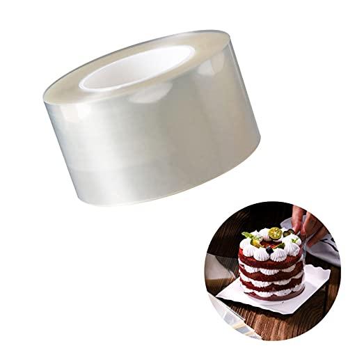 1 szt. przezroczyste arkusze do ciasta, mus ciasta, przezroczyste paski do ciasta, obroża do ciast mus do samodzielnego wykonania deserowe ciasto dekorowanie mus pieczenie czekolada twarda krawędź otaczająca, 6 cm (przezroczyste)