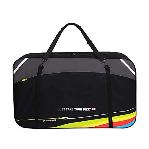 RIYIFER 120 * 26 * 75CM Bolsa Transporte Bicicleta Plegable con Bolsa De Almacenamiento Cifrado Engrosamiento De Tela 600X600d Bolsa De Transporte Plegable para Bicicleta,Black*b,215L
