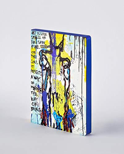 Nuuna Graphic L Notizbuch mit Ledereinband, Punktraster