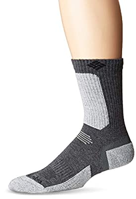 Columbia Men's Hike Crop Crew Sock, Charcoal2, Meduim