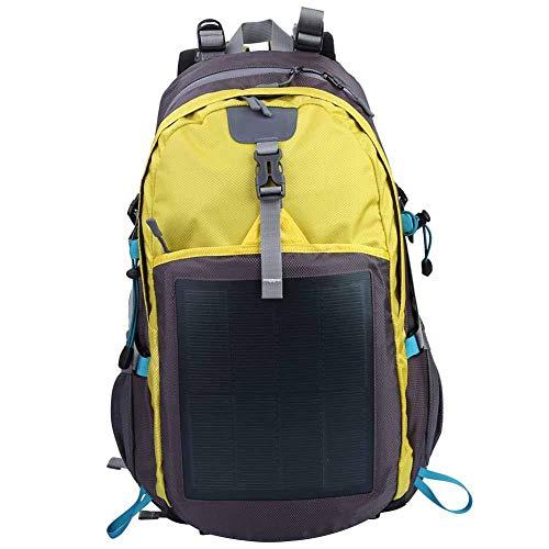 Keenso Zaino Solare, 10.6W Zaino Solare per Esterni Antifurto Tablet per Laptop Borsa a Tracolla Unisex a 2 Colori per Arrampicata di Campeggio Escursionismo(60 * 35 * 10cm-Giallo)
