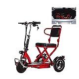 HSTD Scooter EléCtrico, Triciclo eléctrico Plegable Scooter de Tres Ruedas, Personas con Movilidad Reducida, Adultos, minusválidos, discapacitados,Motor de 300W, 20 km/H