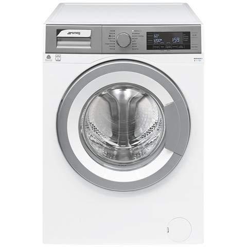 Smeg WHT814LSIT-1 Libera installazione Caricamento frontale 8kg 1400Giri/min A+++ Grigio, Bianco lavatrice