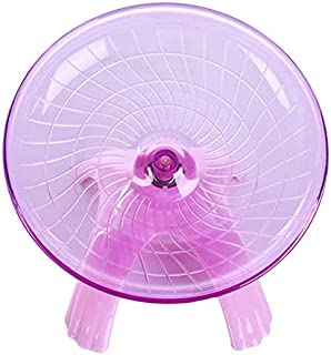 zswell1 Pack Exercise Wheel Jogging Running Silent Spinner Hamster Flying Saucer for Syrian Hamsters Rat Gerbils Mice Chinchilla Guinea Pig Squirrel and Other Small Animal