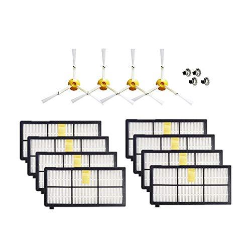 Kit de accesorios de cepillo lateral + filtro HEPA + cepillo de rodillo para aspiradora IRobot Roomba 800 860 870 880 890 900 960 980 Accesorios de repuesto (color: HXL6199) (color: Hxl2074)