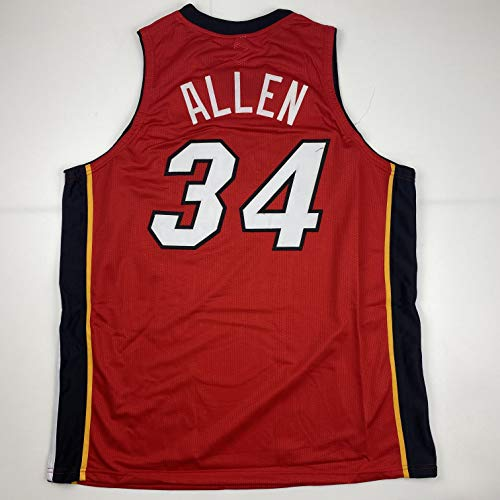 Unsigned Ray Allen Miami Red Custom Stitched Basketball Jersey Size Men's XL New No Brands/Logos