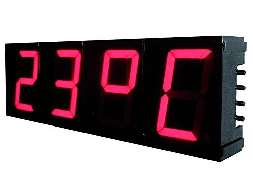 Velleman K8089 Digital wall clock Plaza Negro - Reloj de pared (3 V, Negro, 230 mm, 74 mm, 32 mm)