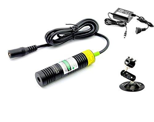 532nm Modulo Linea Laser Verde 50mw / 18x75mm + Adattatore + Supporto