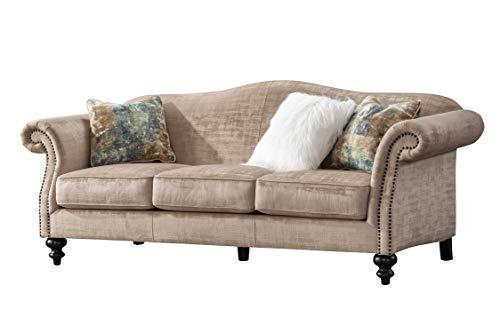 Acanva Luxury Mid-Century Vintage Velvet Living Room Sofa