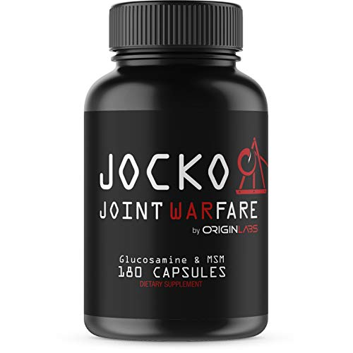 Jocko Joint Warfare - Joint Support Supplement - Curcumin, Glucosamine, MSM, Boswellia, Quercetin - Joint Pain & Inflammation Relief - 180 Tablets
