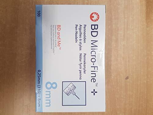 BD Micro-Fine Plus 8mm 31G Penta Point Pen Needles