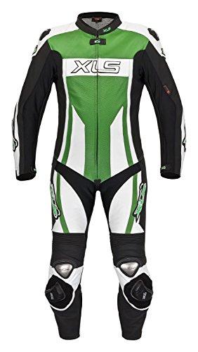 Tuta di pelle di alta qualità, Costume intero in verde Kawa von XLS GR. 4648505254565860