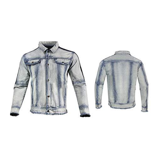 Beschermende Spijkerjas Heren Motorjas Anti-drop En Slijtvaste Stof 5 Verwijderbare Beschermingsmiddelen Het Beste Cadeau Voor Een Ridder (Color : Gray, Size : X-Large)