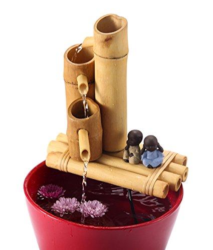 Lifegard Aquatics R440858 3-Tier Bamboo Fountain, 12', Brown