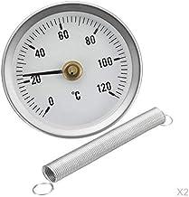Bonarty Inicio Industrial 63mm Indicador De Temperatura, Termómetro De