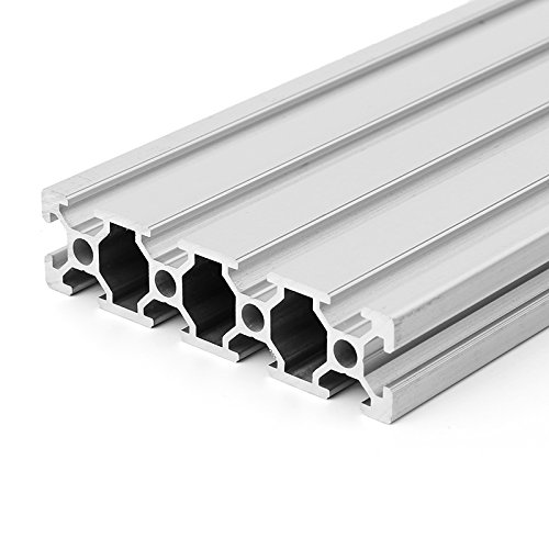 ZOYOSI 200/300/400mm Length 2080 T-Slot Aluminum Profiles Extrusion Frame for CNC - 400mm
