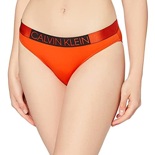 Calvin Klein Classic Braguita de bikini, Rojo (Mandarin Red 659), Small para Mujer