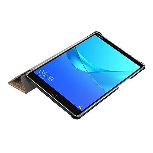 Hülle für Huawei MediaPad M5 8.4 Zoll Schutzhülle Tablet Smart Cover mit Auto Sleep/Wake, Standfunktion und Touchpen Gold - 5