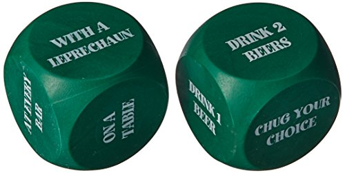 Beistle 30426 St. Patrick Decision Dice Game, 2 Dices Per Game