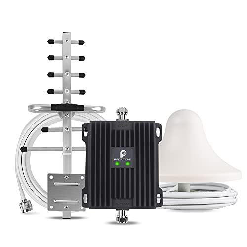 Proutone Ripetitore 4G Amplificatore 800 MHz/2600 MHz Banda 20 Banda 7 Vodafone Tre TIM Wind Amplificatore Segnale Cellulare LTE per Casa Ufficio