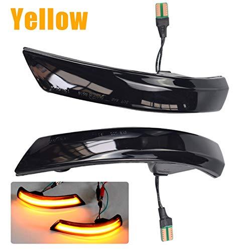 N+B Dynamische Blinker-Licht-LED-Seite Rückspiegel Sequential Indicator Blinker Lampe für Ford Focus 2 3 Mk2 Mk3 Mondeo MK4 EU (Emitting Color : Yellow)