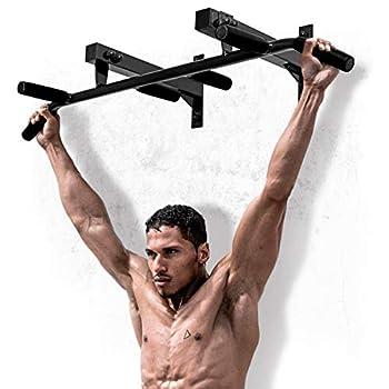 Wall Mounted Chin Up Bar Professional Indoor Gymnastics Multi Grip Pull Up Bar