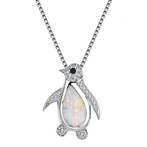 WYFLL Jewelry Accessories Europe and America Opal Penguin Silver Pendant Personality Fashion Trend Personality Little Girl Necklace Pendant