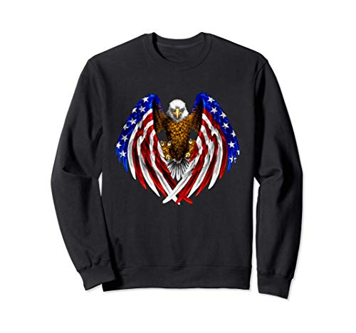 Eagle US Flag American Freedom Patriotic 4 de julio Sudadera