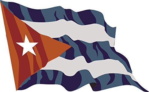 Aufkleber / Autoaufkleber Fahne A-LS43 Cuba - Kuba 10 cm fürs Auto oder Heckscheibe