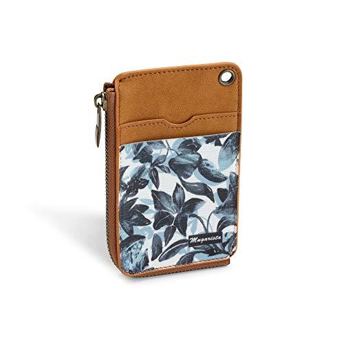 MNGARISTA Elastic Card Holder Wallet, Slim Minimalist Wallet Vertical Credit Card Holder and Men & Women Front Pocket Wallet with 3 Card Slots and 1 Side Zipper Pocket