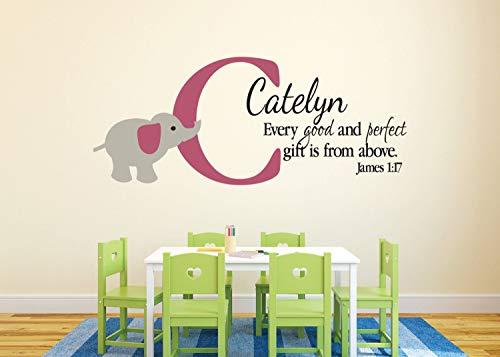 James1:17 Autocollant pour enfant avec inscription en anglais « Every Good »