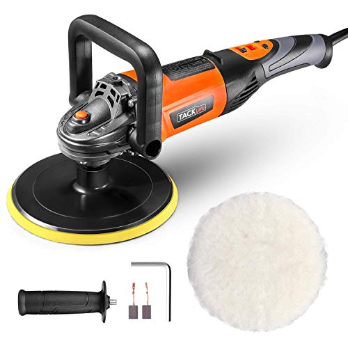 TACKLIFE Electric Car Polisher, 1200W Polishing Buffer Machine,6 Variable Speeds, D-Handle, Wool...