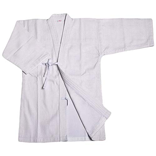 G-like Kendo Kenjutsu Uniform - Traditionelle Japanische Schwertkampfkunst Kostüm Karate Ninja Aikido Training Kleidung Keikogi Jacke Hakama Hose für Männer Frauen (Weiß, L)