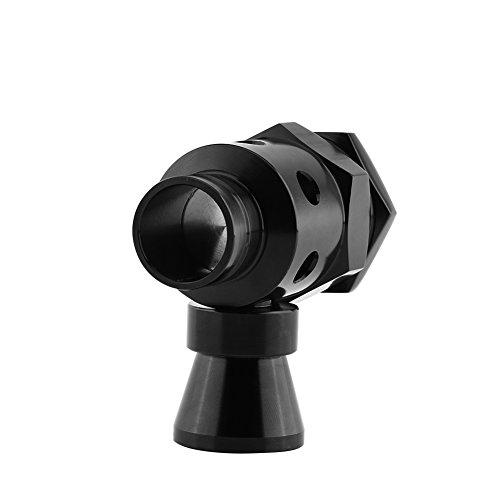 Qiilu Universal 25mm Válvula de descargar Blow Off Dump Ajustable Turbo Dump Blow Off Válvula de Escape Wastegate Tailpipe BOV Negro