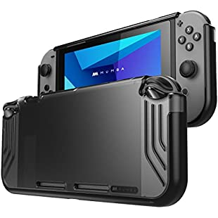 Mumba Nintendo Switch case, [Slimfit Series] Premium Slim Clear Hybrid Protective Case for Nintendo Switch 2017 release (Black)