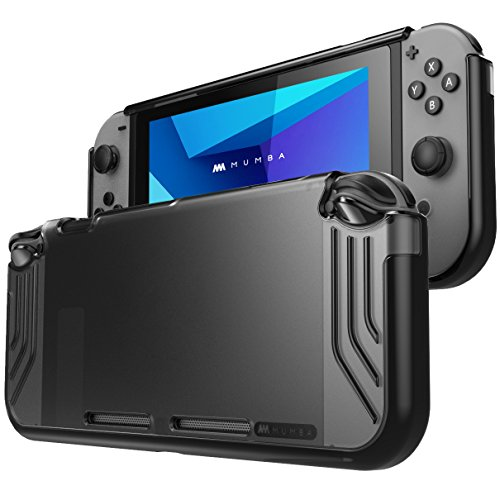 Mumba case for Nintendo Switch, [Slimfit Series] Premium Slim Clear Hybrid Protective Case for Nintendo Switch 2017 Release (Black)