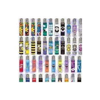 ITDSTORE 48 Accendini CLIPPER Misti da collezione-48 grafiche diverse (24 large e 24 micro)