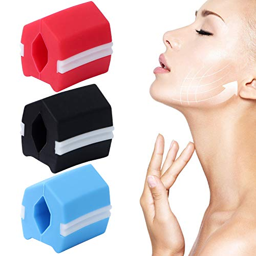 Jaw Exerciser,Vivoice Jawline Exerciser Jaw Face and Neck Exerciser,Facial Exerciser,Jaw Exerciser for Men Women,3 Resistance Levels 40, 50, and 60 lbs-3pcs