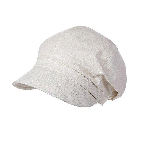 Comhats beige Ballonmütze Schirmmütze Barett Maler Mütze Damen mit Visor