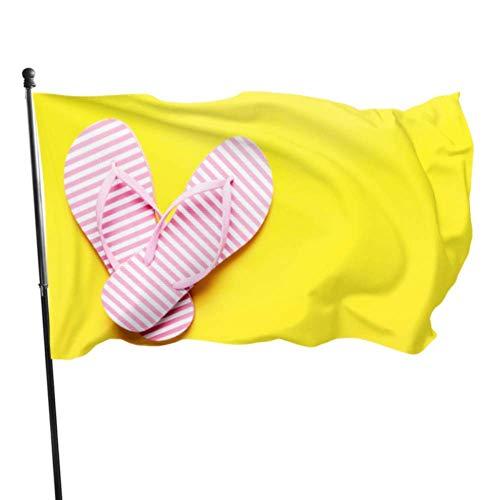 Vicky Sommer Cool Pantoffel-Flaggen, Wanddekoration, Raumdekoration, Flaggen, 91 x 152 cm, leuchtende Farben, Qualitäts-Polyester und Messing-Ösen