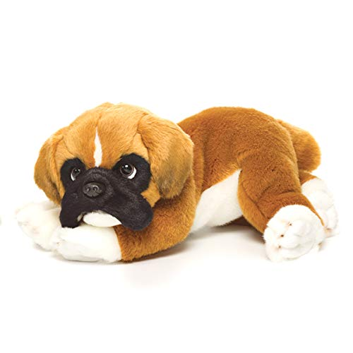 Nat and Jules Lounging Large Boxer Dog Children's Plush Stuffed Animal Toy