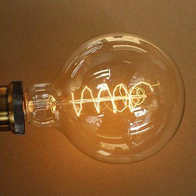 HZZymj-40w e27 style rétro industrie ampoule incandescente transparente , 220-240v
