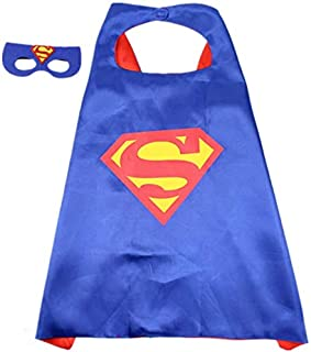 Mumoo Bear Double sided Kids Superman Top Costume with mask and cape, 4-8 years Kids Boys Parties Festival Costume, Justic...